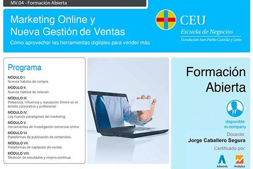 Curso Marketing online y nueva gestión de ventas en Valladolid