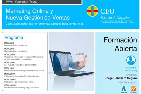 programa cursomarketing online y nueva gestión de ventas