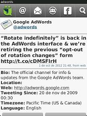 anuncio de google adwords sobre el regreso de la alternacia indeinida
