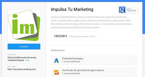 Somos la primera agencia Google Partners en Valladolid